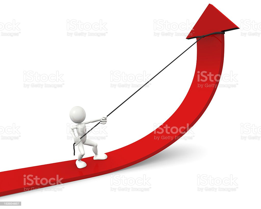 Hombre con flecha roja foto de stock libre de derechos