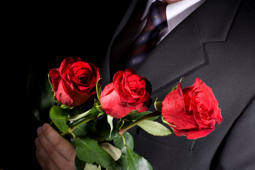Image result for man with rose