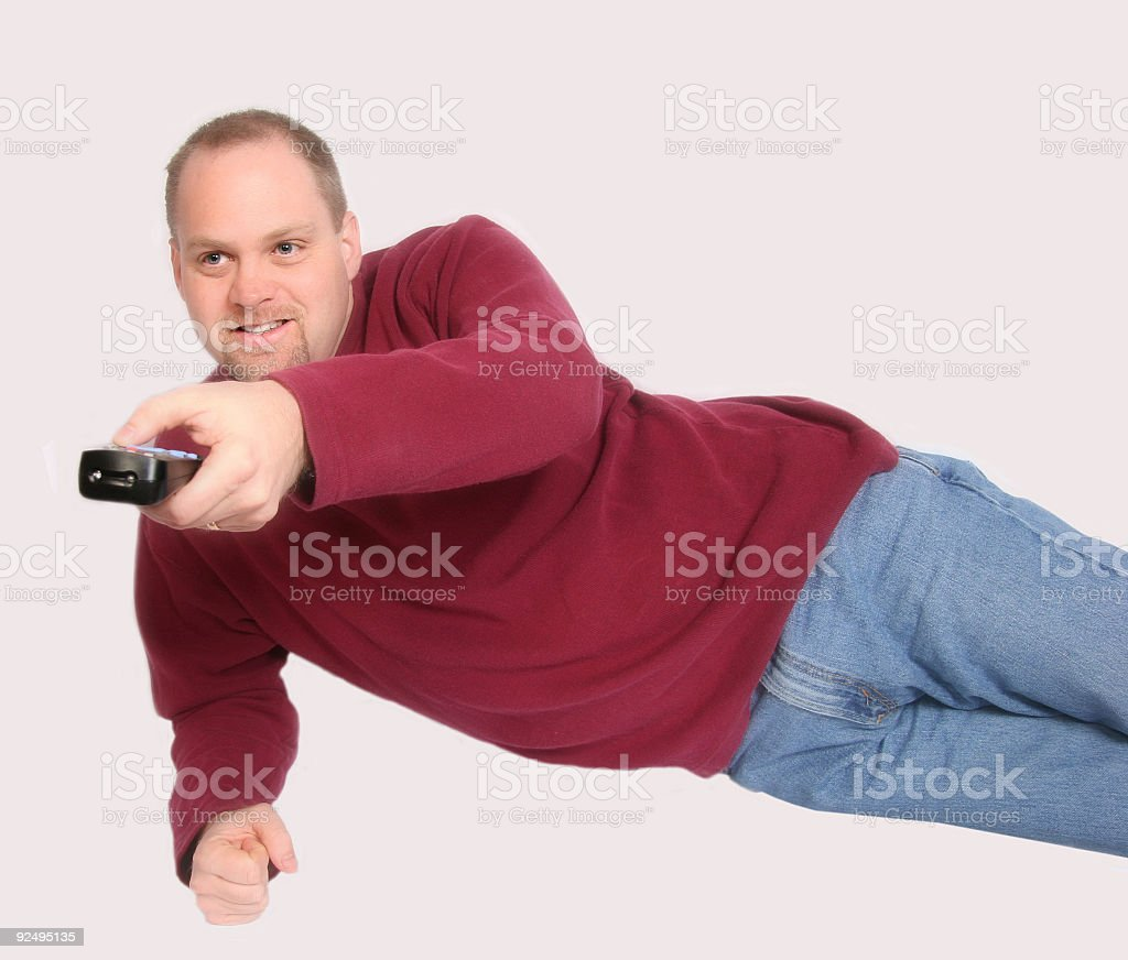 Man with Remote royalty-free stock photo
