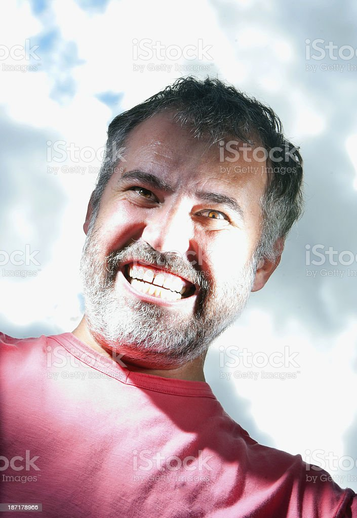 Man With Scary Smile stock photo
