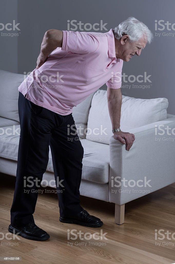 Man with sciatica stock photo