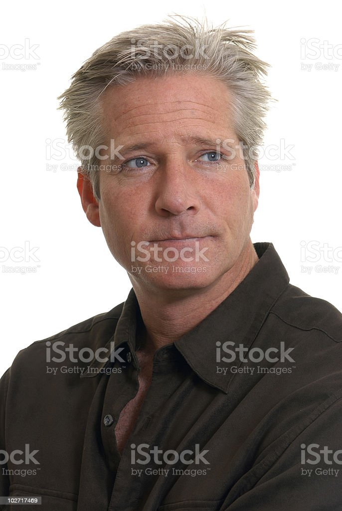 Man with serious look royalty-free stock photo
