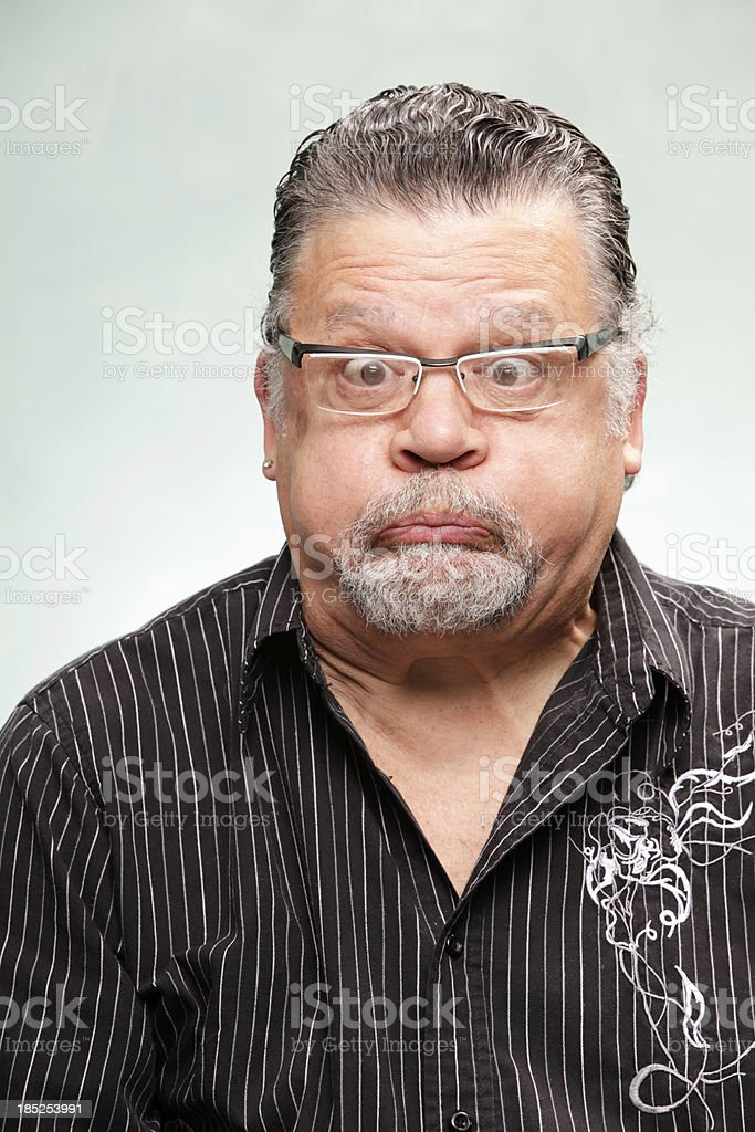 Man with Silly Expression royalty-free stock photo