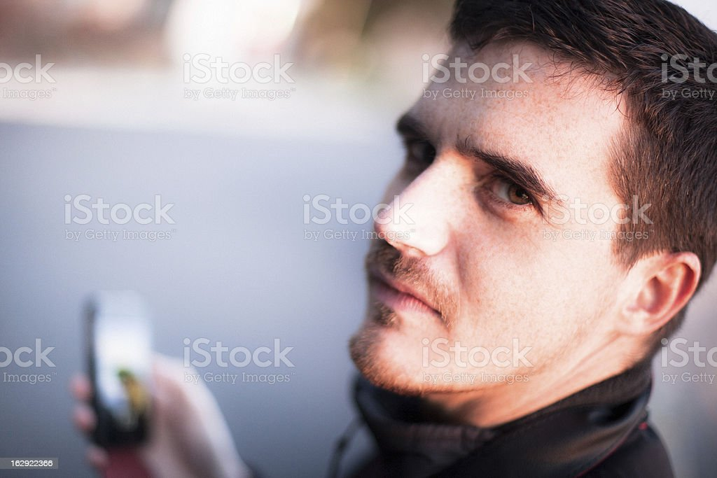 Man with Smartphone royalty-free stock photo