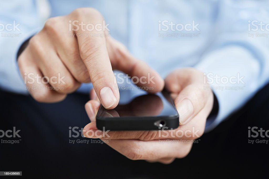Man with smartphone stock photo