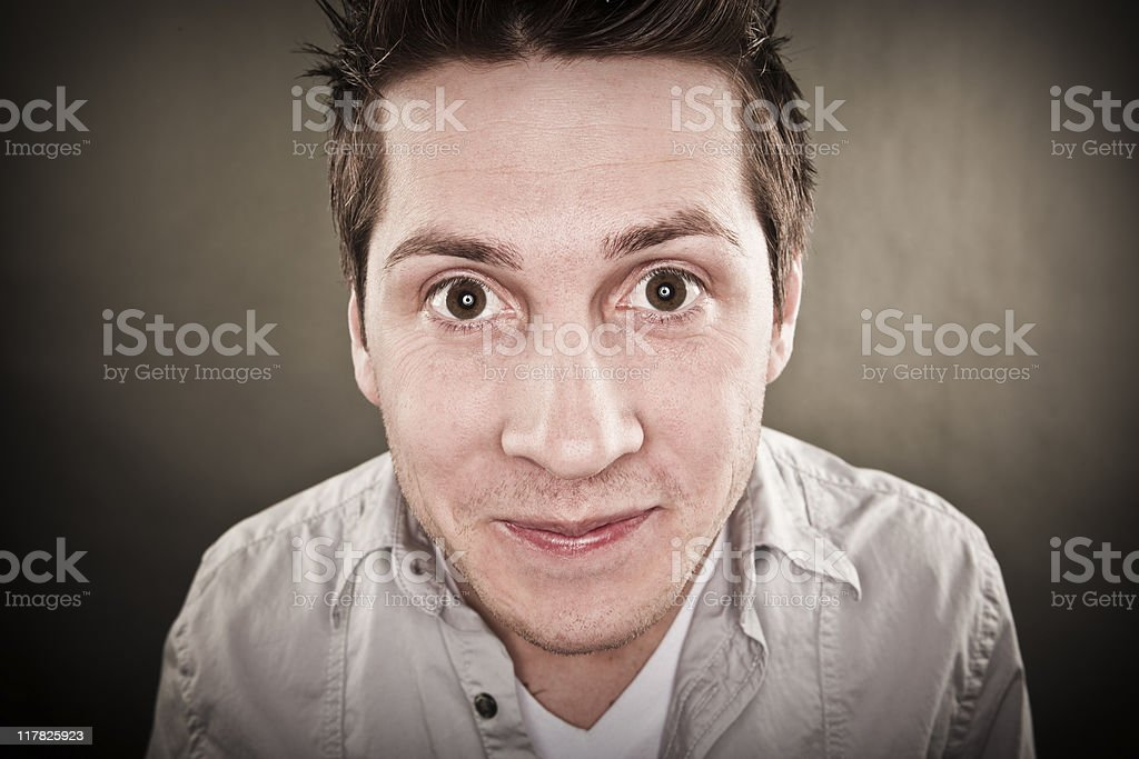 Man with smirky expression royalty-free stock photo