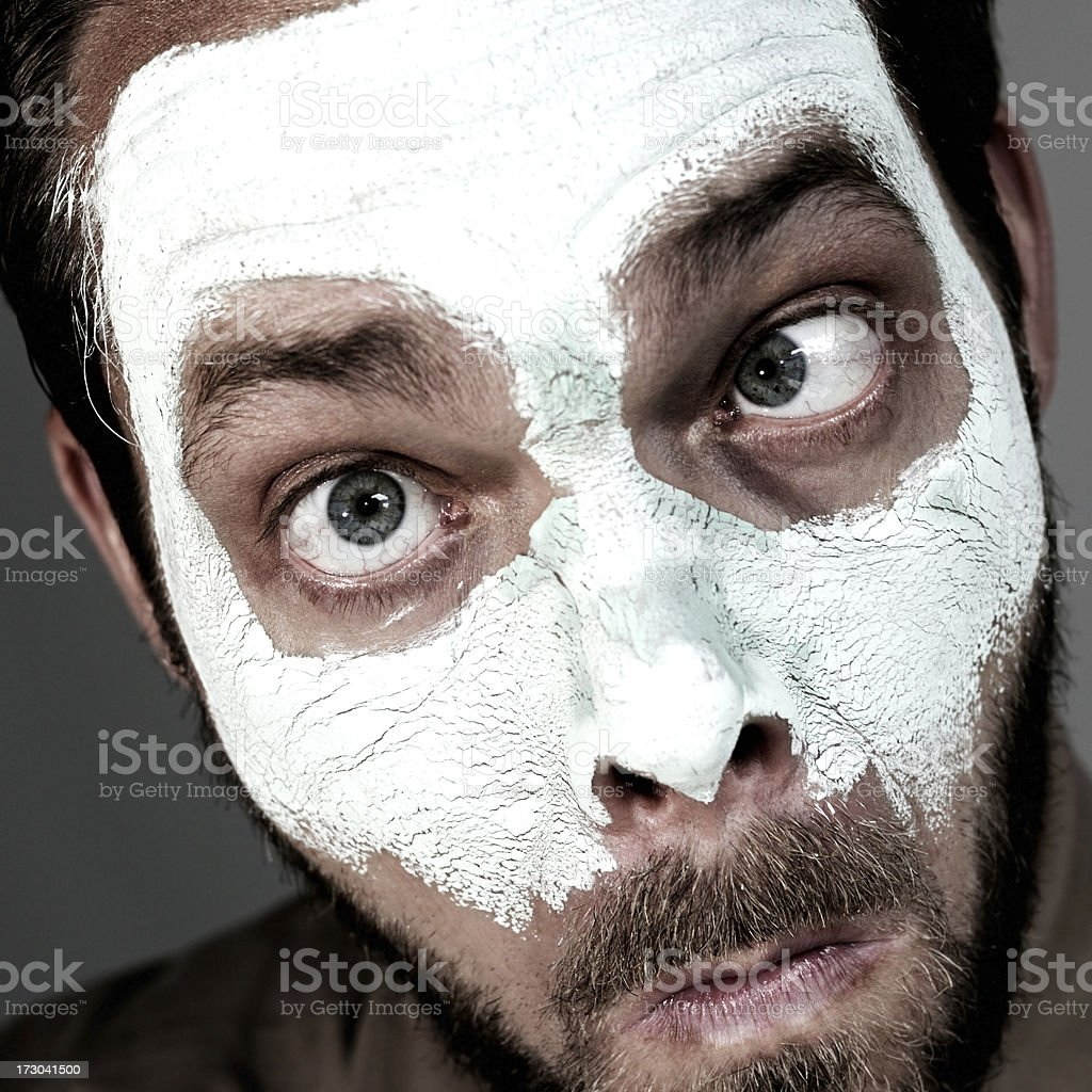 man with smooth ointment royalty-free stock photo