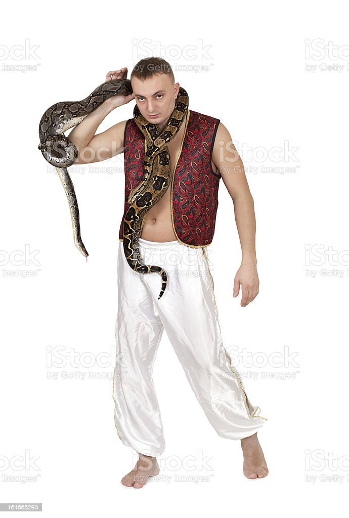 Man with snakes royalty-free stock photo