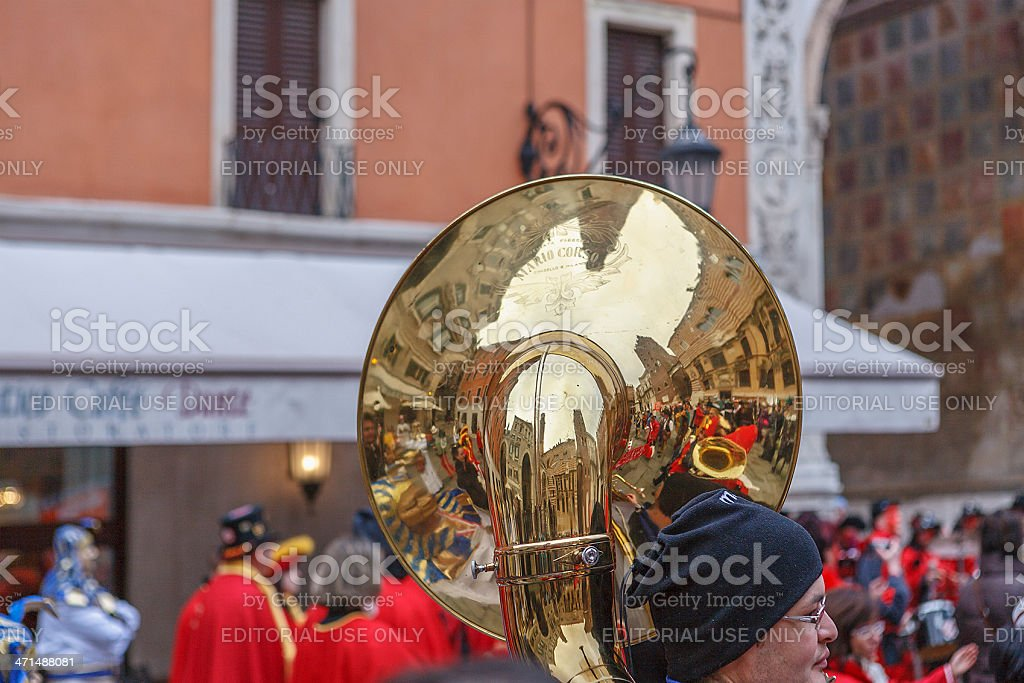 Man With Sousaphone royalty-free stock photo