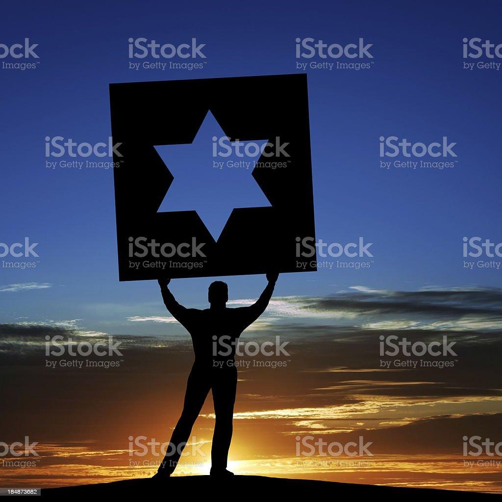 XXXL man with star of david royalty-free stock photo