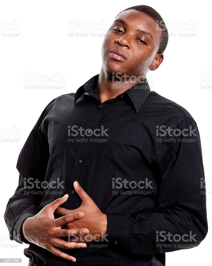 Man With Stomachache royalty-free stock photo