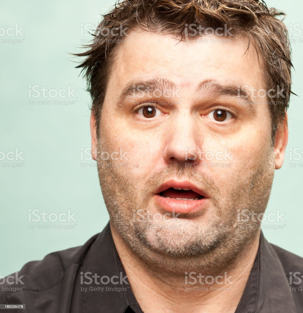 Man with Stunned Expression royalty-free stock photo