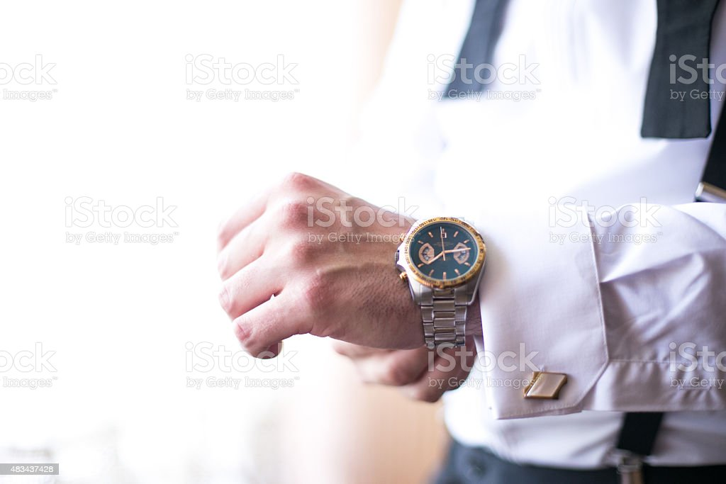 Man with style stock photo