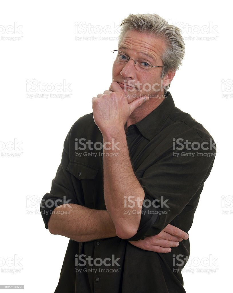 Man with Surprised Look royalty-free stock photo