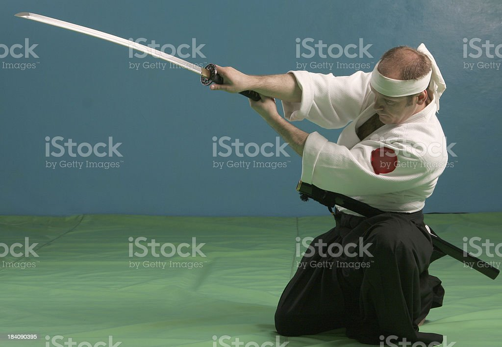 Man with sword royalty-free stock photo