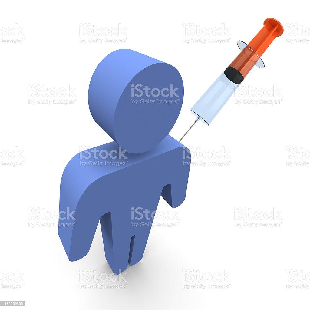 Man with Syringe royalty-free stock photo