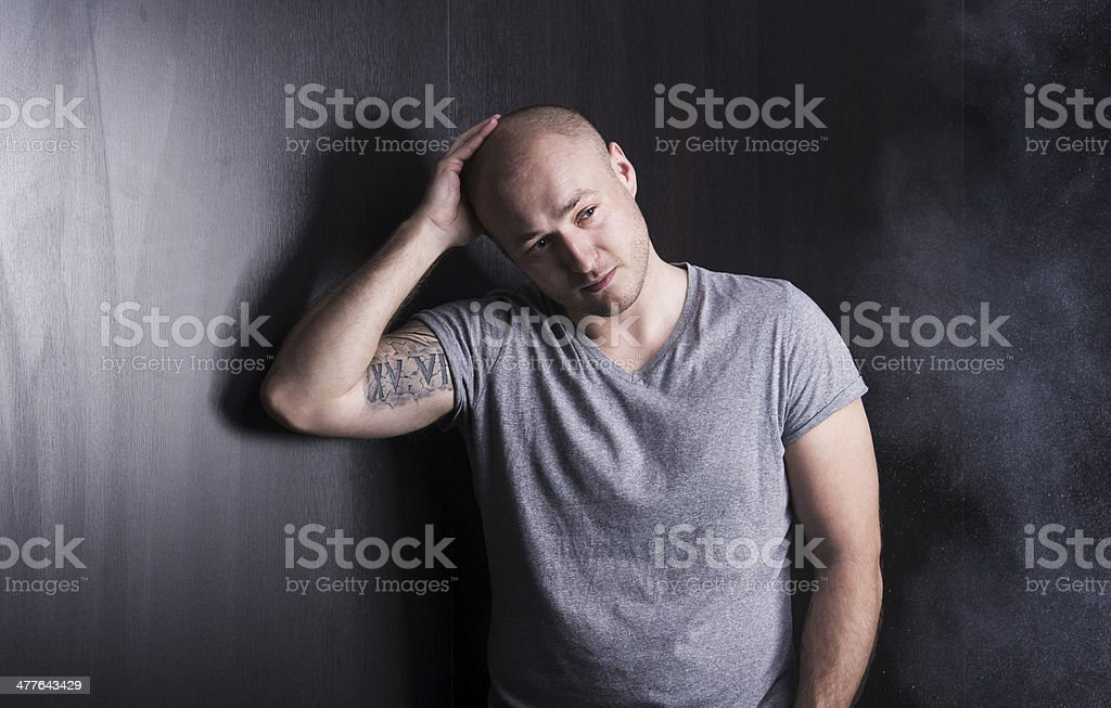 Man with tattoo stock photo