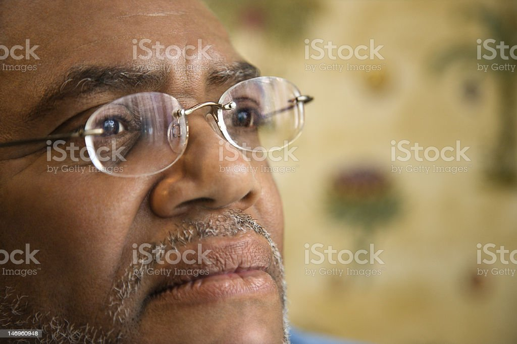 Man with Thoughtful Expression royalty-free stock photo