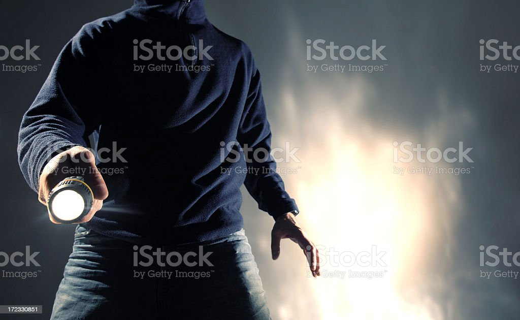 man with torch series royalty-free stock photo