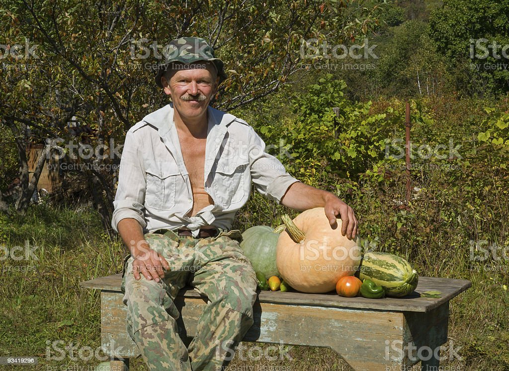 Man with vegetables royalty-free stock photo