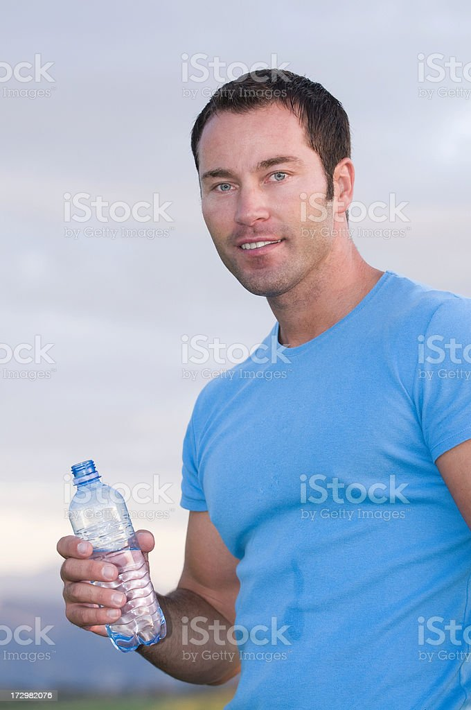 man with water bottle royalty-free stock photo