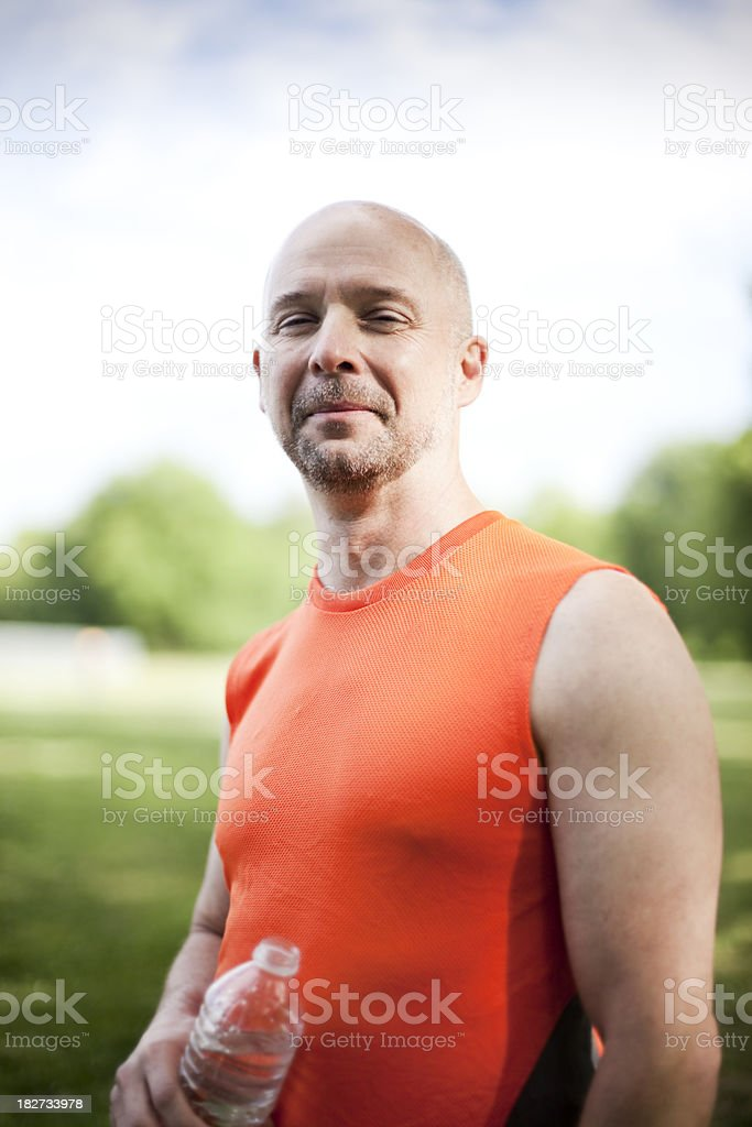 Man with water royalty-free stock photo