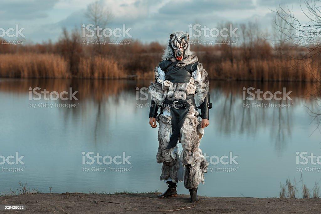 Man wolf, a werewolf. stock photo