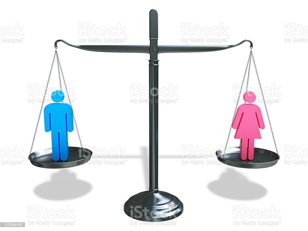Man - Woman Equality royalty-free stock photo