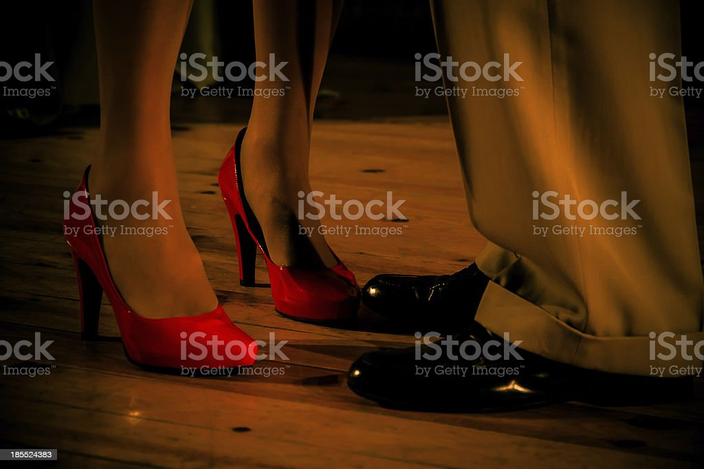 Man  Woman Feet to Head - Pies  Hombre y Mujer stock photo