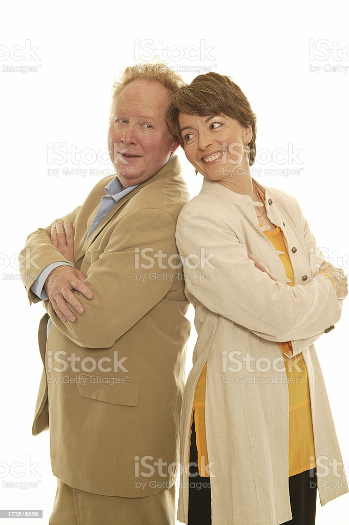 man & woman royalty-free stock photo