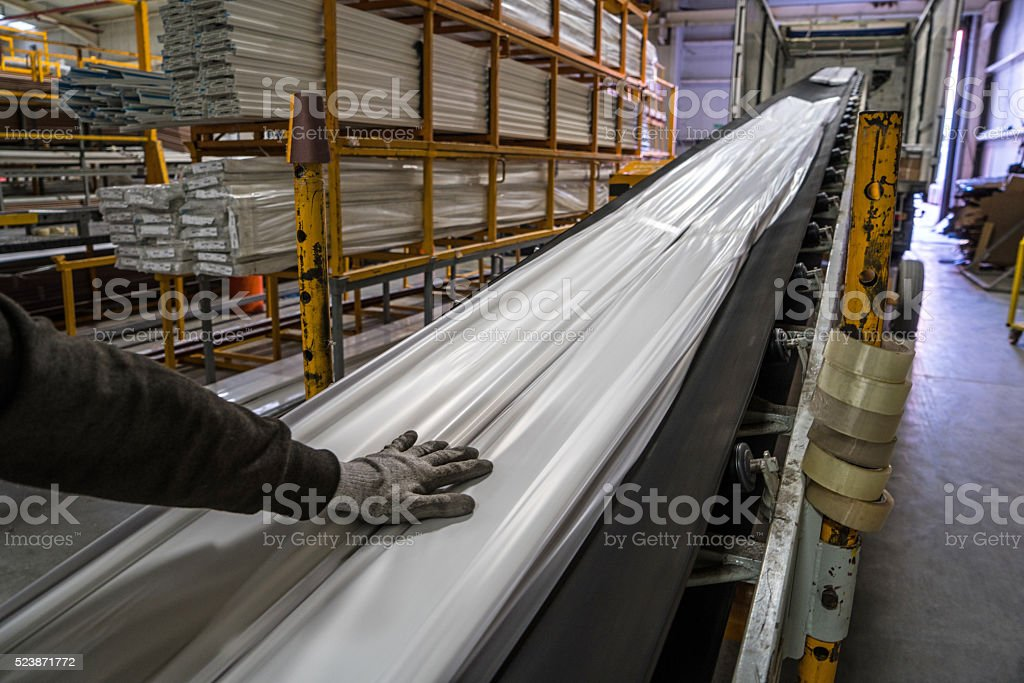 Man working a warehouse stock photo