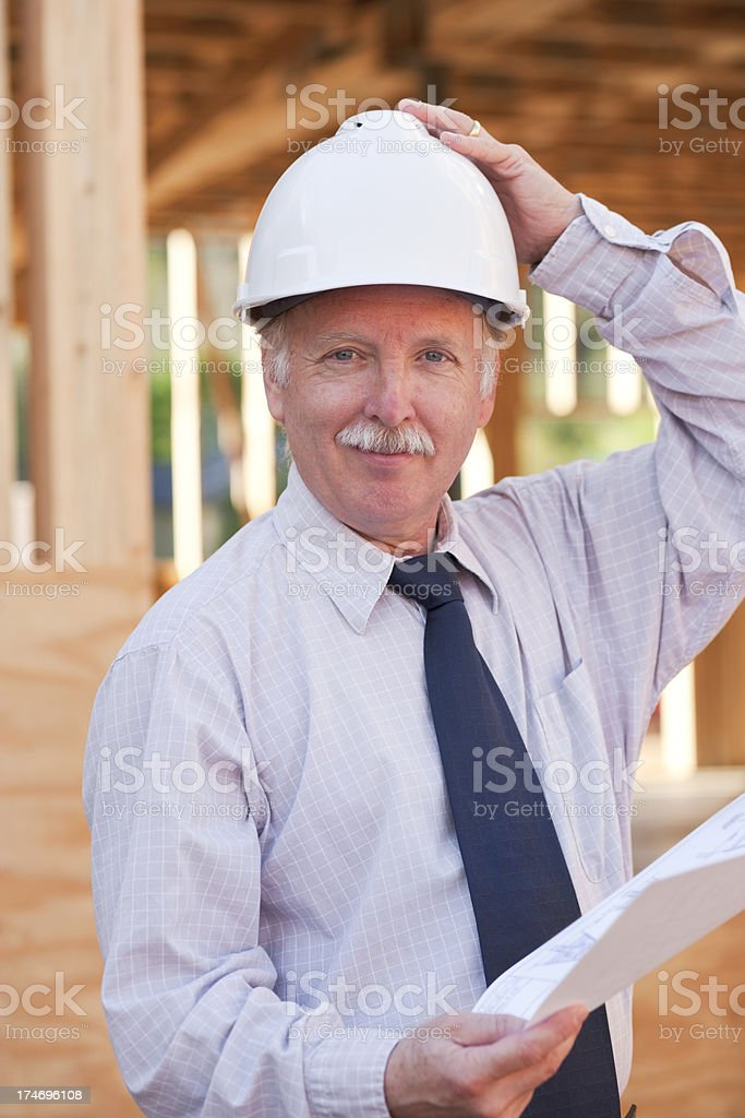 Man working at construction site  (XXL) royalty-free stock photo