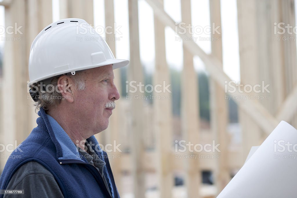 Man working at construction site  XXL) royalty-free stock photo