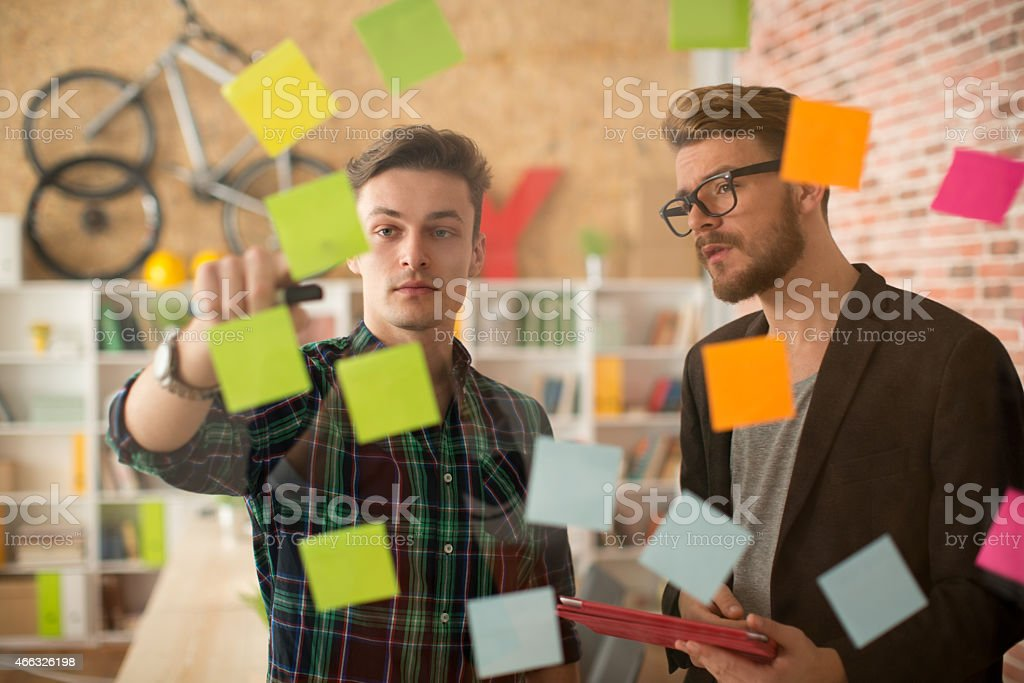 Man working at modern office. stock photo