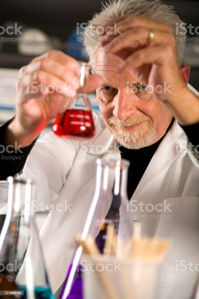 Man Working in a Laboratory royalty-free stock photo