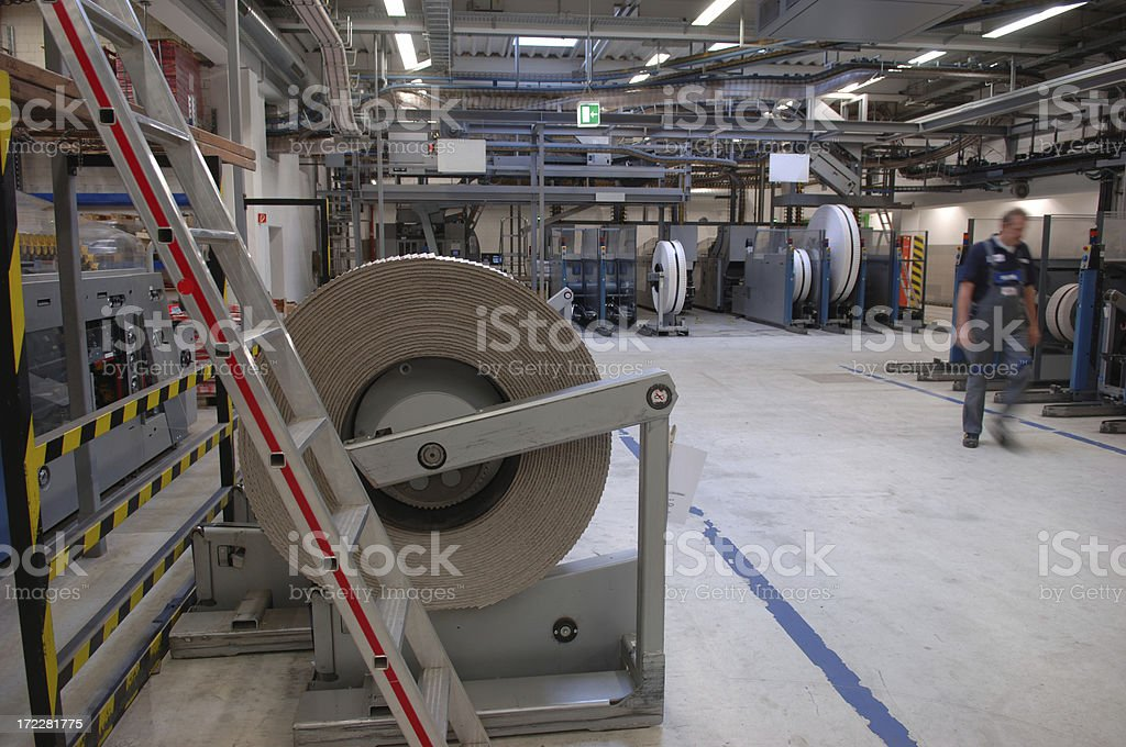 Man working in a printing office #12 royalty-free stock photo