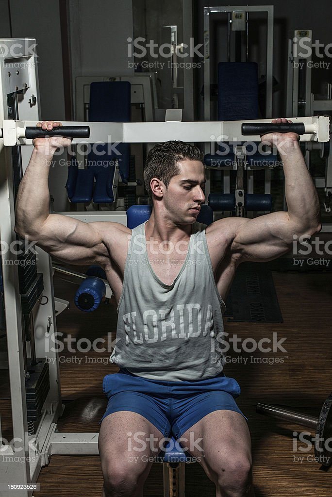 Man working in the Gym royalty-free stock photo