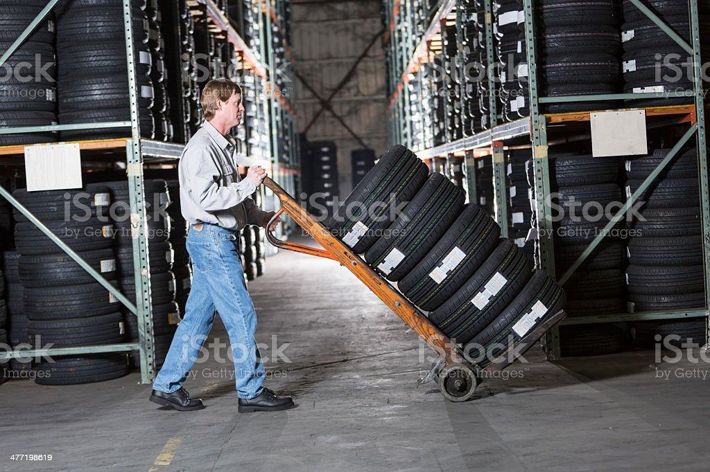 Man working in warehouse stock photo