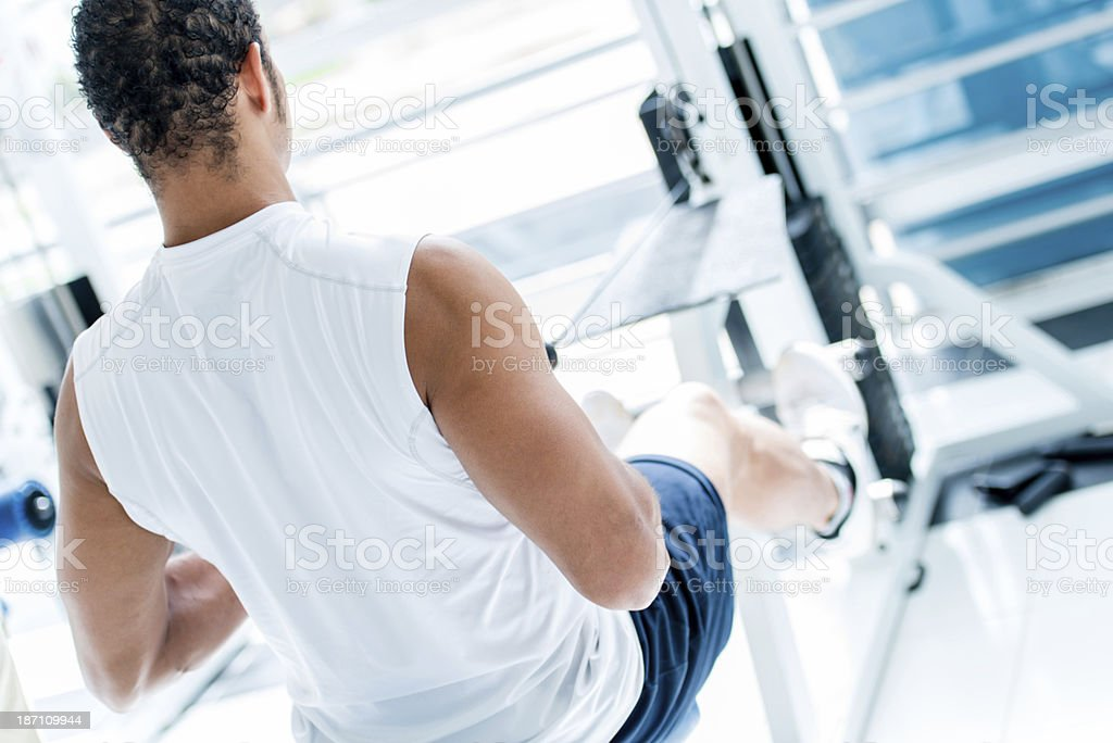 Man working out at the gym royalty-free stock photo