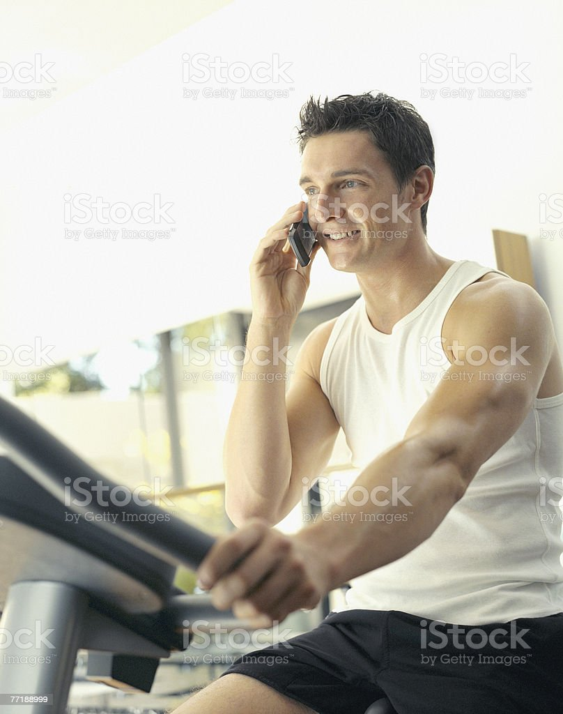 A man working out royalty-free stock photo