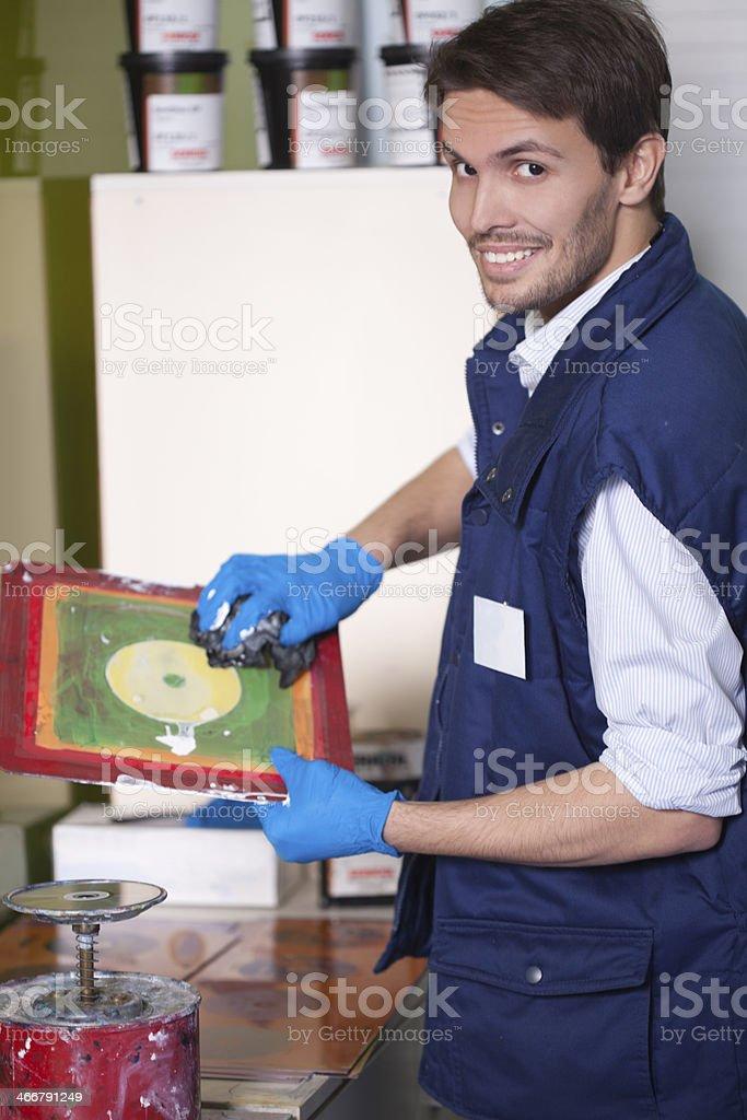 Man working royalty-free stock photo