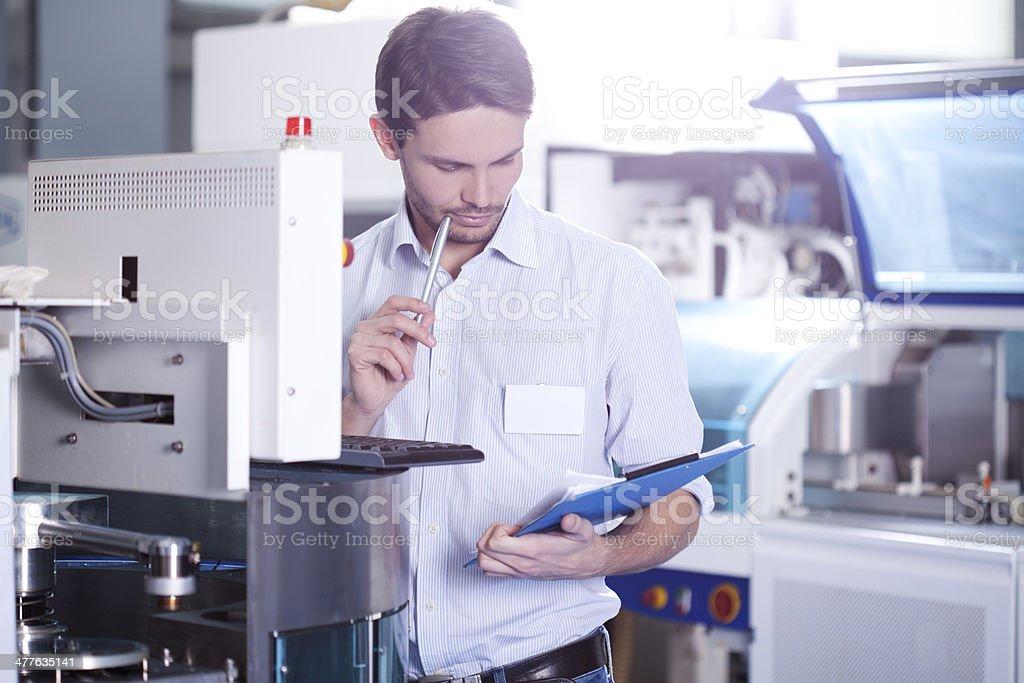 Man working stock photo