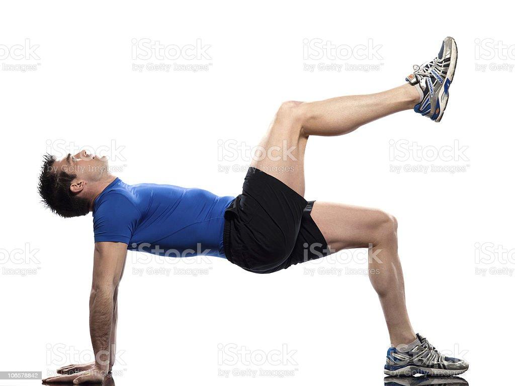 man Workout Posture fitnes exercise stock photo