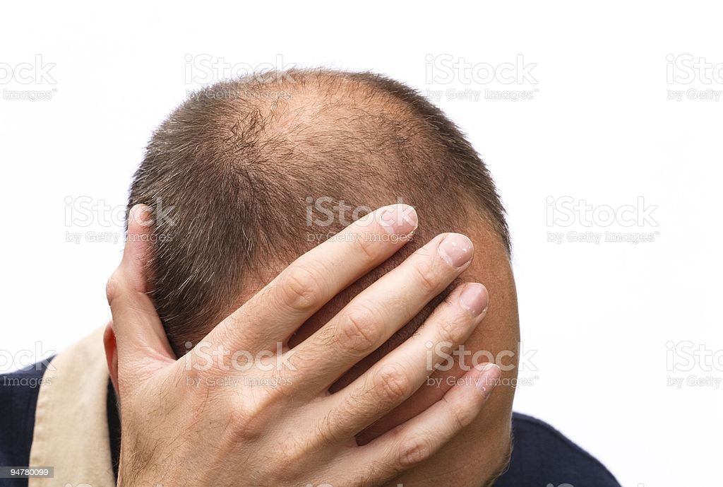 Man worrying stock photo