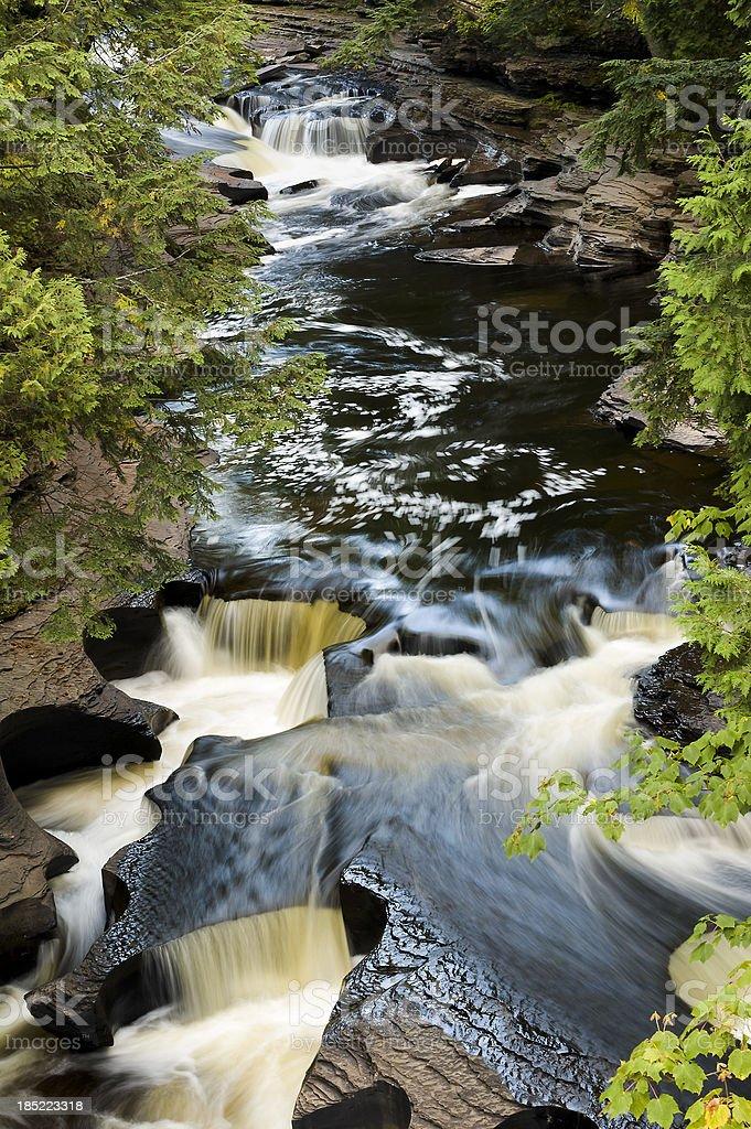 Manabezho Falls stock photo