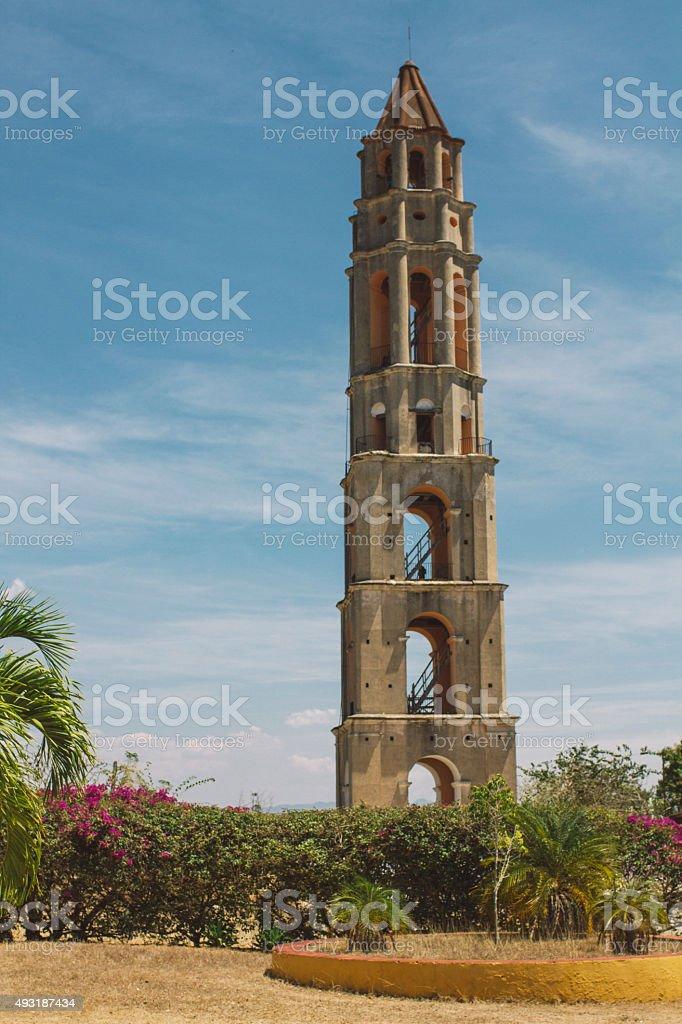 Manaca Iznaga lookout tower stock photo