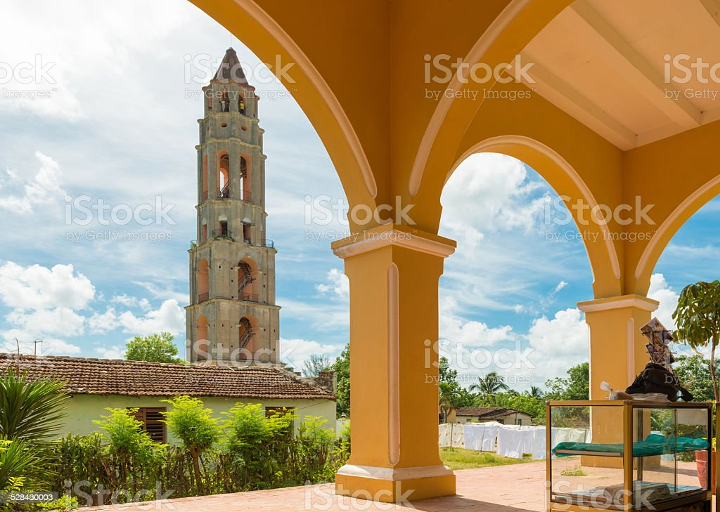 Manaca Iznaga Tower in Valle de los Ingenios,Cuba stock photo