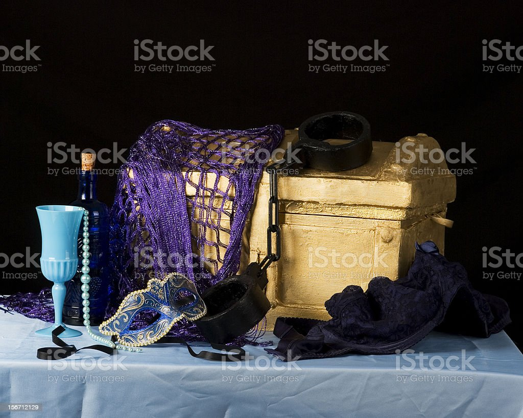 manacles and mask royalty-free stock photo