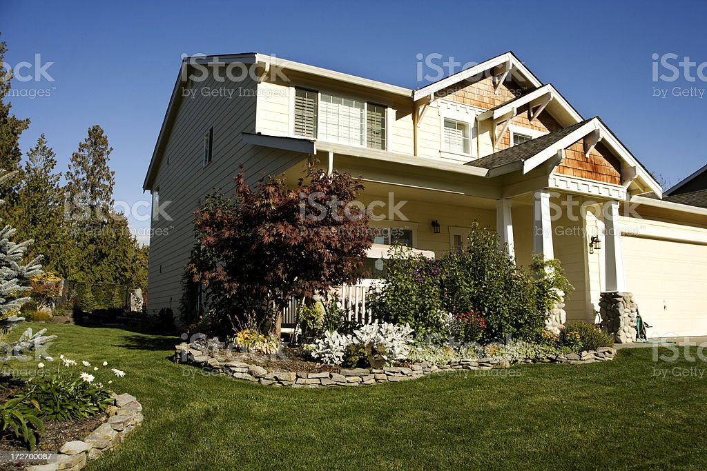 Manacured lawn service royalty-free stock photo