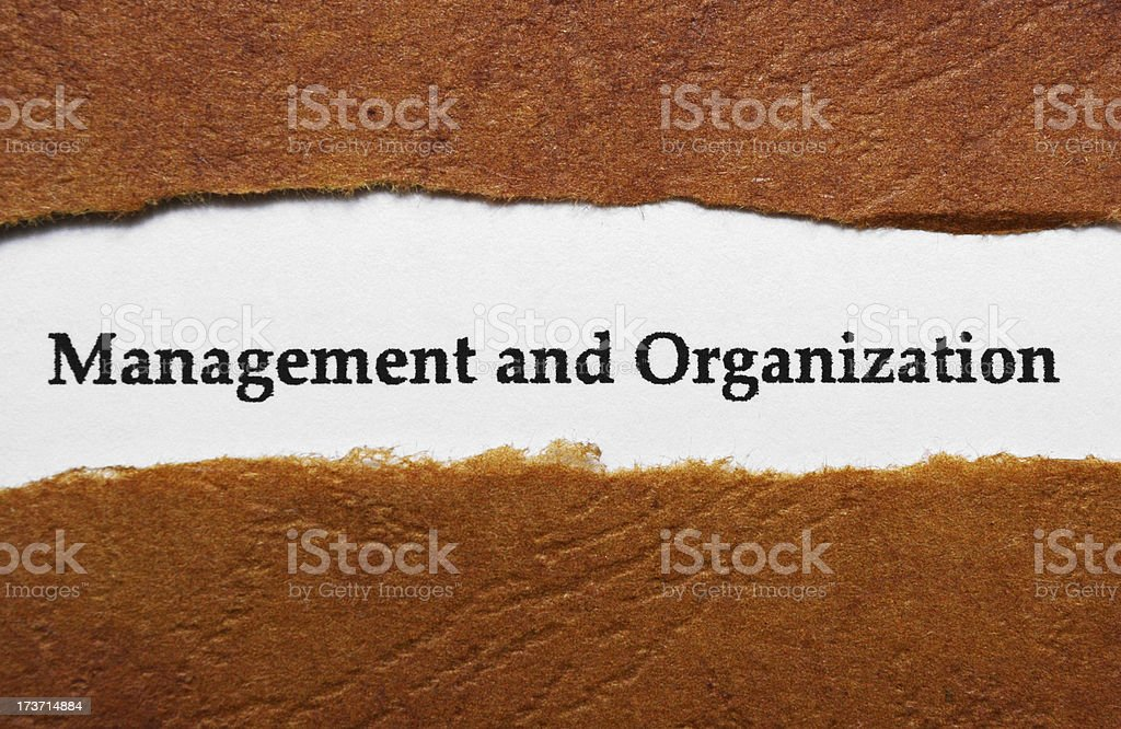 Management and organization royalty-free stock photo